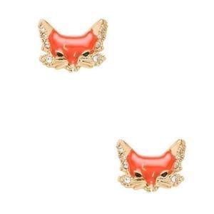 KATE SPADE Into The Woods Fox Stud Earrings